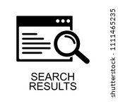 searching results icon. element ... | Shutterstock .eps vector #1111465235