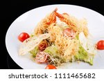 seafood salad with shrimps ... | Shutterstock . vector #1111465682