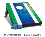 bean bag toss | Shutterstock .eps vector #1111466258