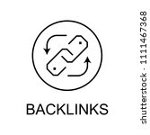 backlinks line icon. element of ... | Shutterstock .eps vector #1111467368
