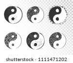 vector set of hand drawn yin... | Shutterstock .eps vector #1111471202