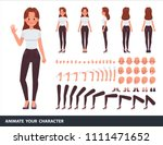 woman character vector design.... | Shutterstock .eps vector #1111471652