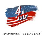 4th of july vector illustration.... | Shutterstock .eps vector #1111471715
