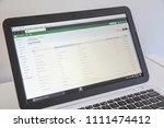winnipeg  manitoba   canada  ... | Shutterstock . vector #1111474412
