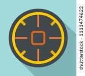 futuristic aim scope icon. flat ...