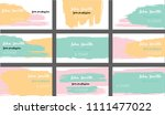 hand painted business cards... | Shutterstock .eps vector #1111477022