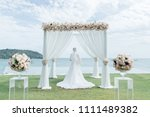 wedding ceremony bride | Shutterstock . vector #1111489382