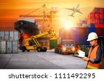 foreman control and check list... | Shutterstock . vector #1111492295