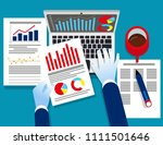 analyst business. auditor... | Shutterstock .eps vector #1111501646