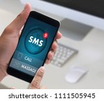 sms messaging communication... | Shutterstock . vector #1111505945