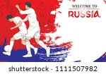 welcome to russia background... | Shutterstock .eps vector #1111507982