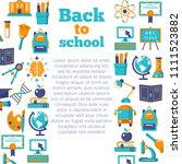 back to school colorful banner... | Shutterstock .eps vector #1111523882