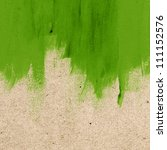 green hand painted brush stroke ... | Shutterstock . vector #111152576