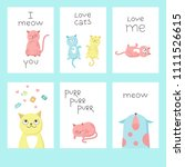 valentine day greeting cards... | Shutterstock .eps vector #1111526615