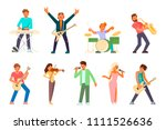 musician and singer icon set.... | Shutterstock .eps vector #1111526636