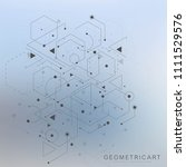 science network pattern ...   Shutterstock .eps vector #1111529576