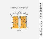 drunk beer glasses character... | Shutterstock .eps vector #1111531262