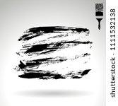 black brush stroke and texture. ... | Shutterstock .eps vector #1111532138
