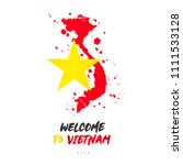 welcome to vietnam. asia. flag... | Shutterstock .eps vector #1111533128