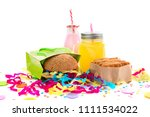 festive composition drinks... | Shutterstock . vector #1111534022