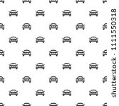 pattern with black icons of car.... | Shutterstock . vector #1111550318