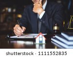 close up lawyer businessman... | Shutterstock . vector #1111552835