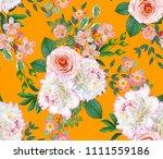 floral seamless pattern. flower ... | Shutterstock . vector #1111559186