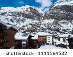 view of zermatt village from... | Shutterstock . vector #1111564532