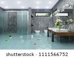 3d render of a flooding modern... | Shutterstock . vector #1111566752