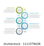 infographic template with five... | Shutterstock .eps vector #1111578638
