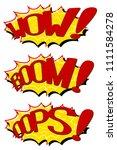 set comic text speeches. icons... | Shutterstock . vector #1111584278