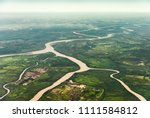 landscape aerial view of... | Shutterstock . vector #1111584812
