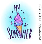 my summer cone ice cream t... | Shutterstock .eps vector #1111585118