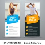 templates of vector white and... | Shutterstock .eps vector #1111586732