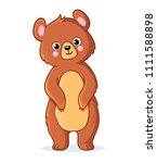 teddy bear stands on a white... | Shutterstock .eps vector #1111588898