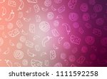 light pink vector texture with... | Shutterstock .eps vector #1111592258