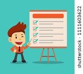 vector cartoon businessman... | Shutterstock .eps vector #1111603622