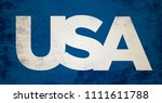 usa texture background | Shutterstock . vector #1111611788