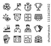 football and soccer icon set | Shutterstock .eps vector #1111613432