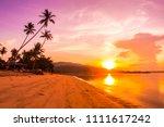 beautiful outdoor view ea ocean ...   Shutterstock . vector #1111617242