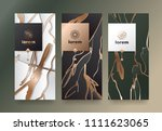 vector set packaging templates... | Shutterstock .eps vector #1111623065