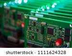 closeup of lot of electronic... | Shutterstock . vector #1111624328