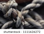 close up rope knots vintage... | Shutterstock . vector #1111626272