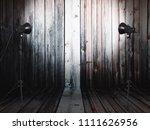 photo studio in old room with... | Shutterstock . vector #1111626956