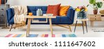 closeup of a wooden table and a ...   Shutterstock . vector #1111647602