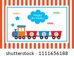 cute train cartoon happy... | Shutterstock .eps vector #1111656188