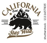 california vintage typography ... | Shutterstock . vector #1111657835