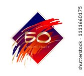 50th anniversary. gold numbers  ... | Shutterstock .eps vector #1111660175