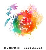 abstract painted splash shape... | Shutterstock .eps vector #1111661315