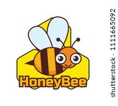 bumble bee   honey bee logo ... | Shutterstock .eps vector #1111665092